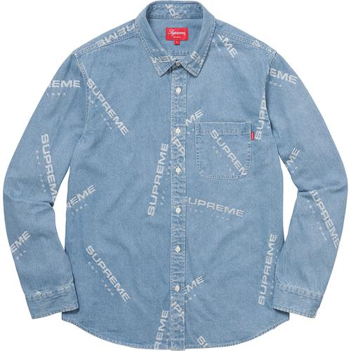 オンライン 手動購入の結果 Jacquard Denim Shirt Blue