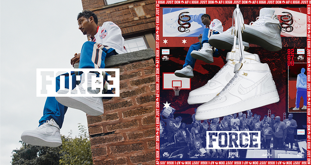 Details about Nike Air Force 1 Hi Just Don 12 AO1074 100 White Acronym Rocafella White Supreme
