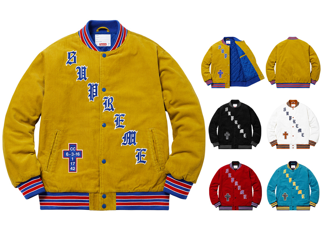 Old English Corduroy Varsity Jacket