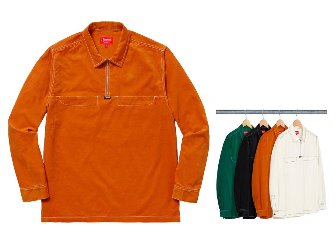 Corduroy Half Zip Shirt