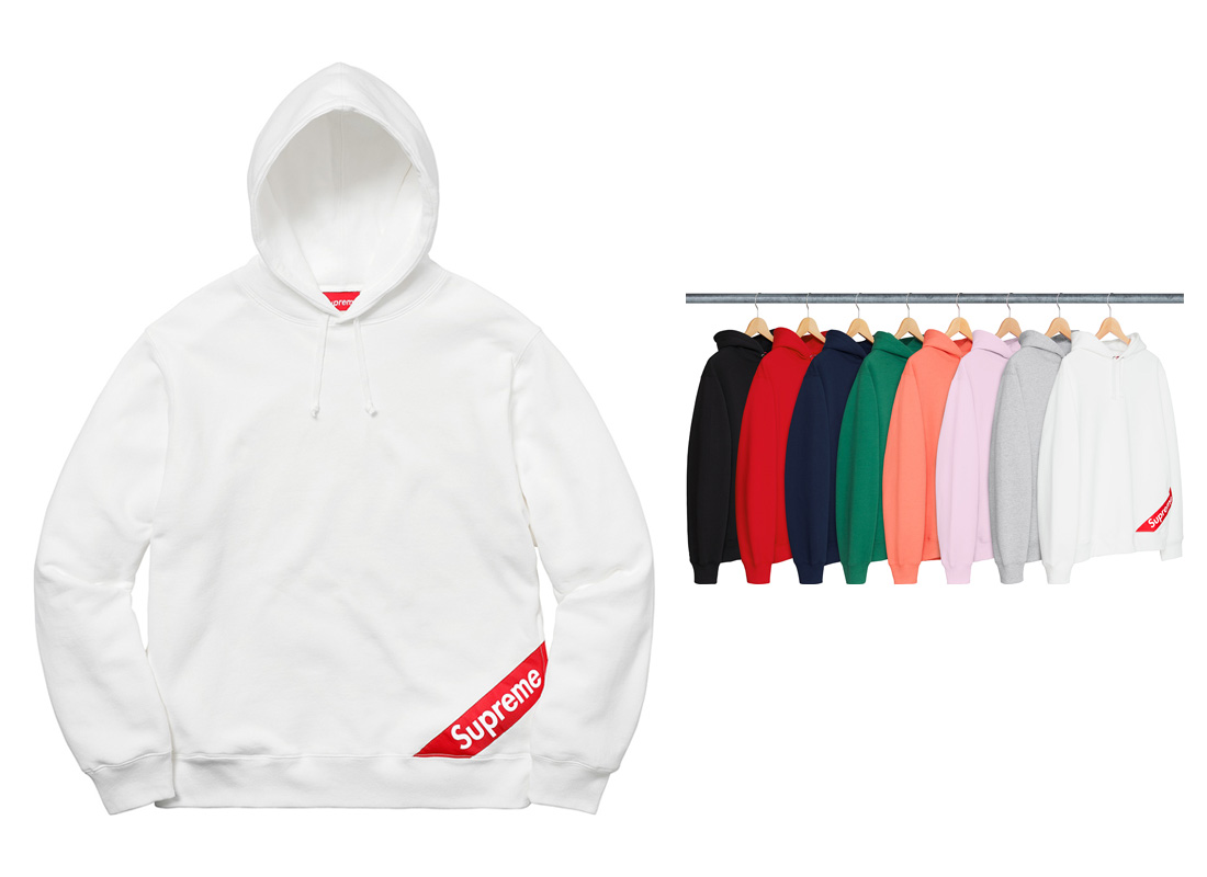 Corner Label Hooded Sweatshirt