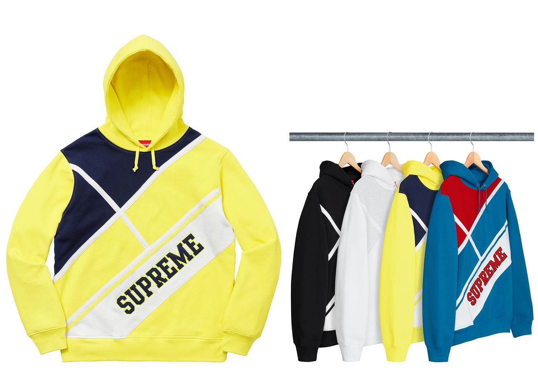 Diagonal Hooded Sweatshirt