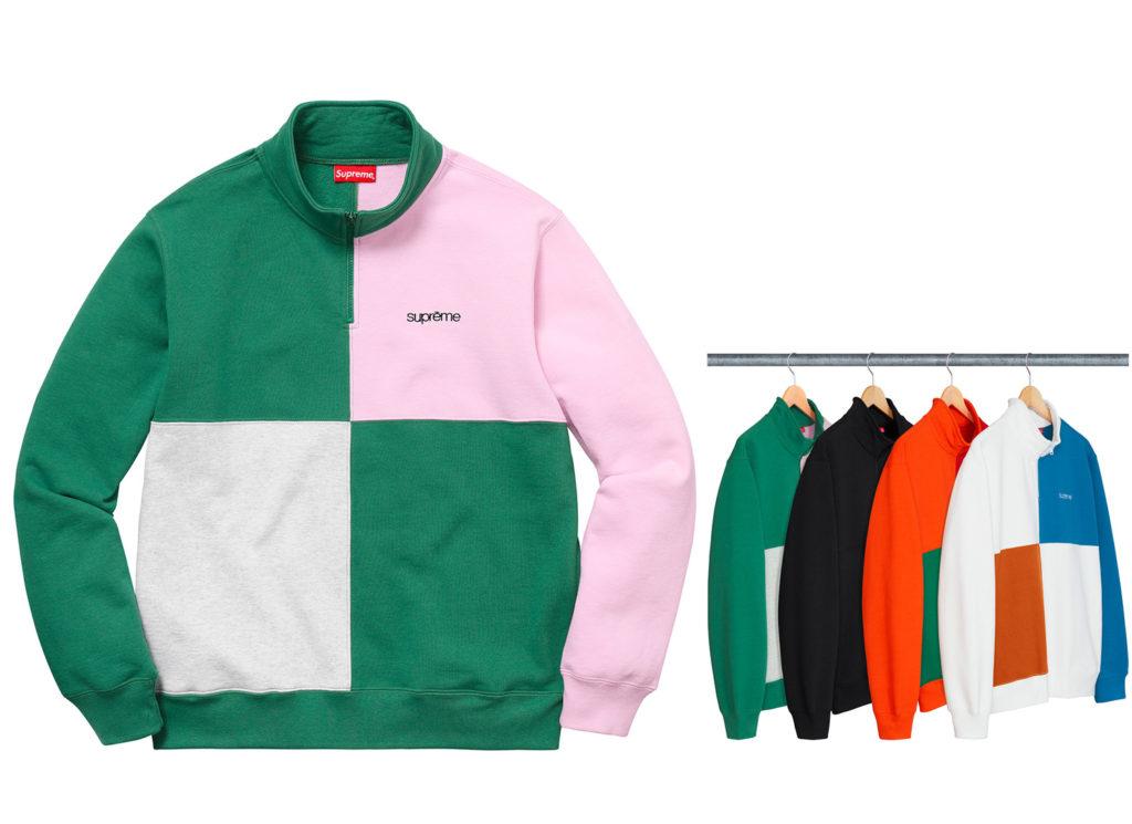 Color Blocked Half Zip Sweatshirt