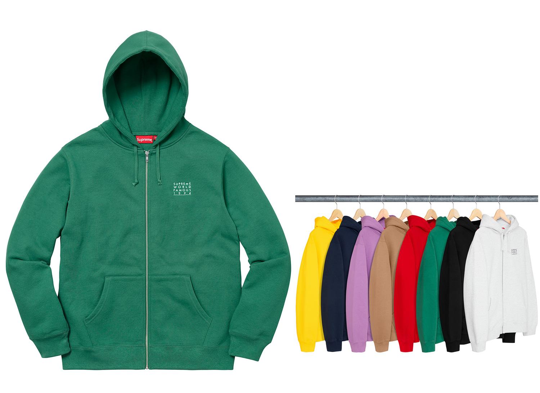 World Famous Zip Up Hooded Sweatshirt