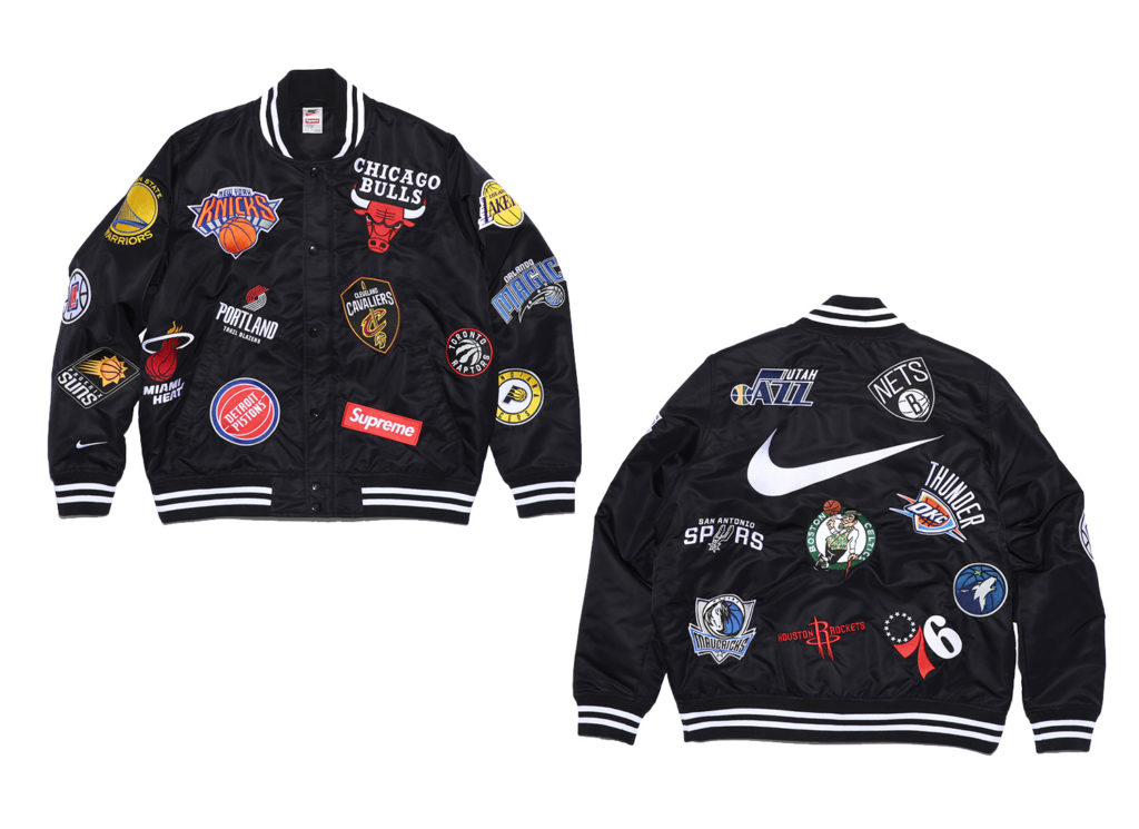 Supreme®/Nike®/NBA Warm-Up Jacket (Black)