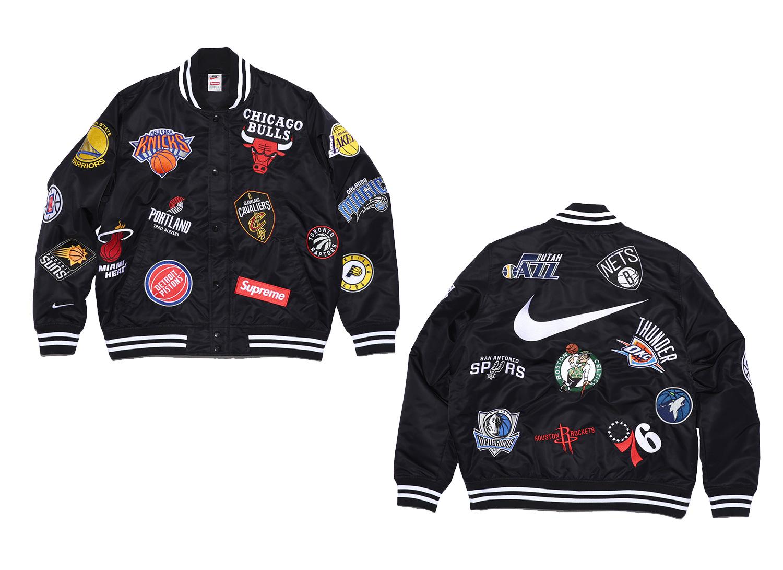 Supreme®/Nike®/NBA Warm-Up Jacket (Black)