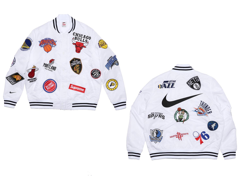 Supreme®/Nike®/NBA Warm-Up Jacket (White)