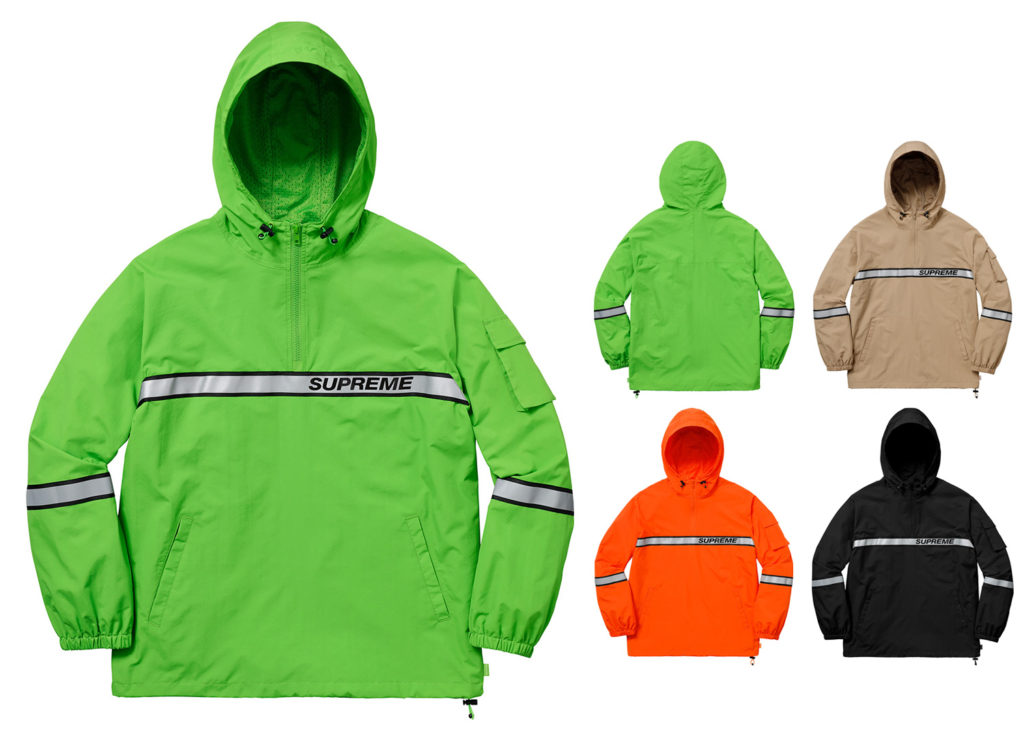 Reflective Taping Hooded Pullover