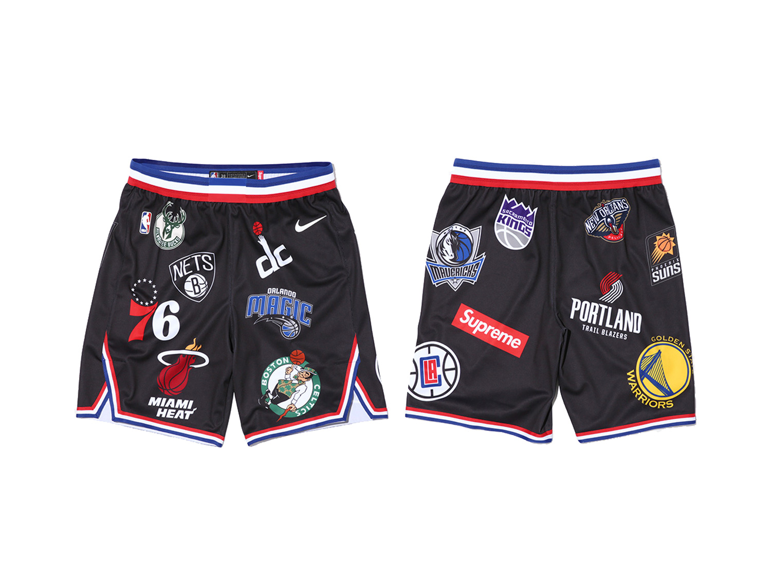 Supreme®/Nike®/NBA Shorts (Black)