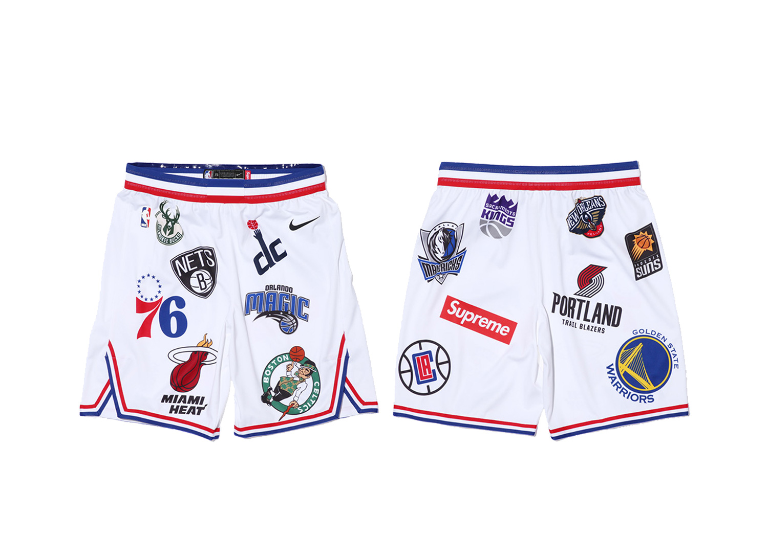 Supreme®/Nike®/NBA Shorts (White)