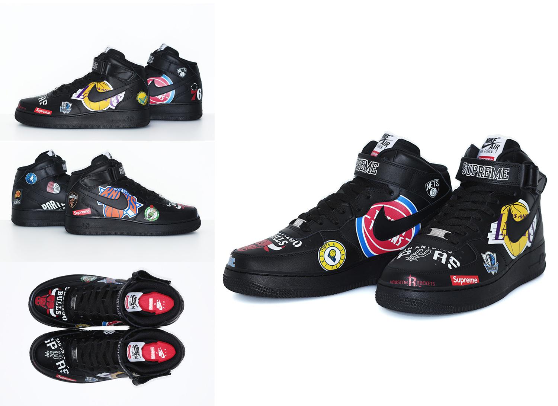 Supreme®/Nike®/NBA AF1 Mid (Black)
