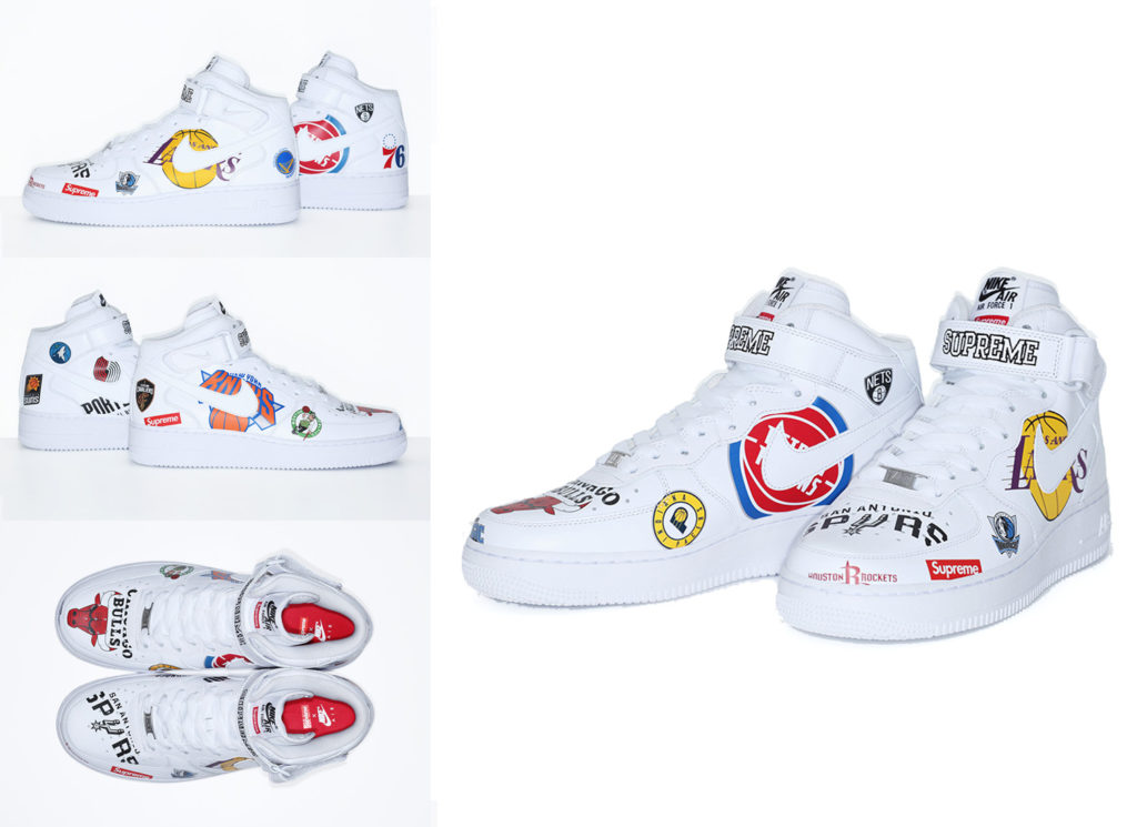 Supreme®/Nike®/NBA AF1 Mid (White)
