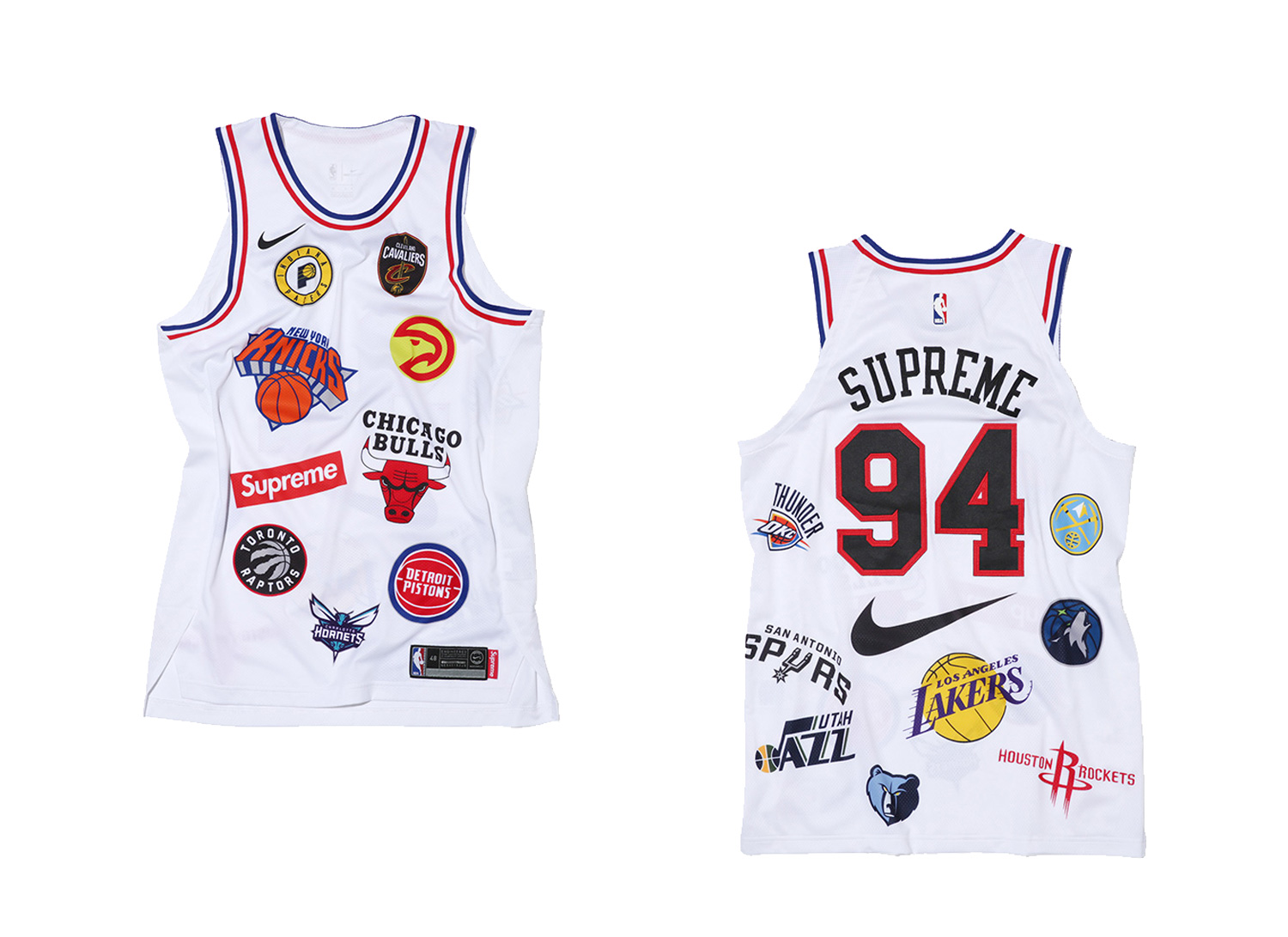 Supreme®/Nike®/NBA Jersey (White)