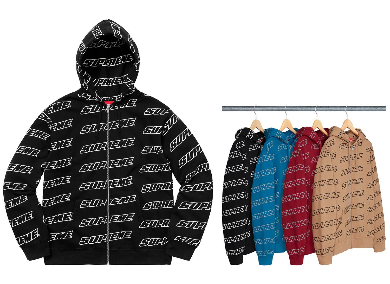 Repeat Zip Up Hooded Sweatshirt