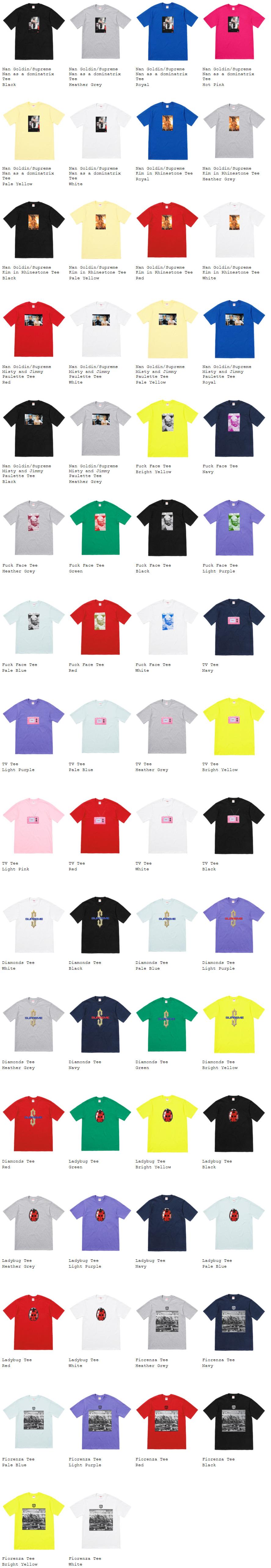 supremeオンライン配置 2018ss week6 Tシャツ