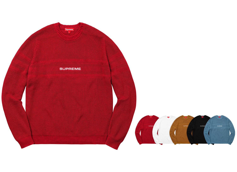 Chest Stripe Raglan Sweater