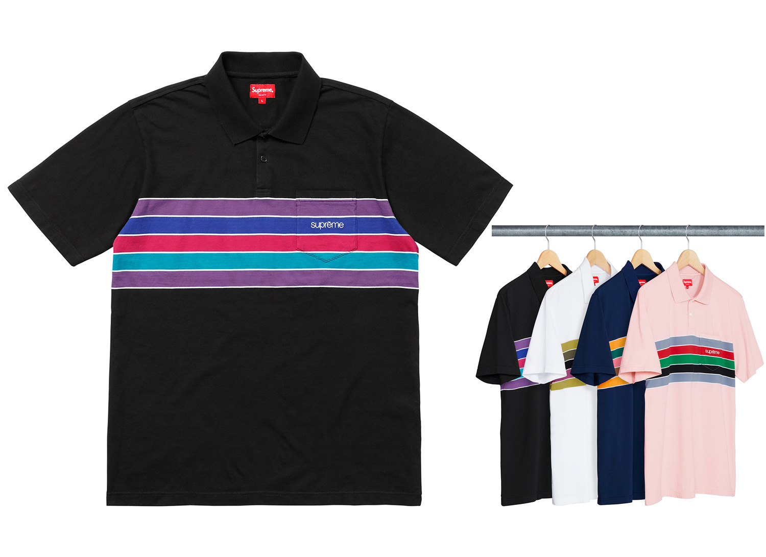 Chest Stripes Polo