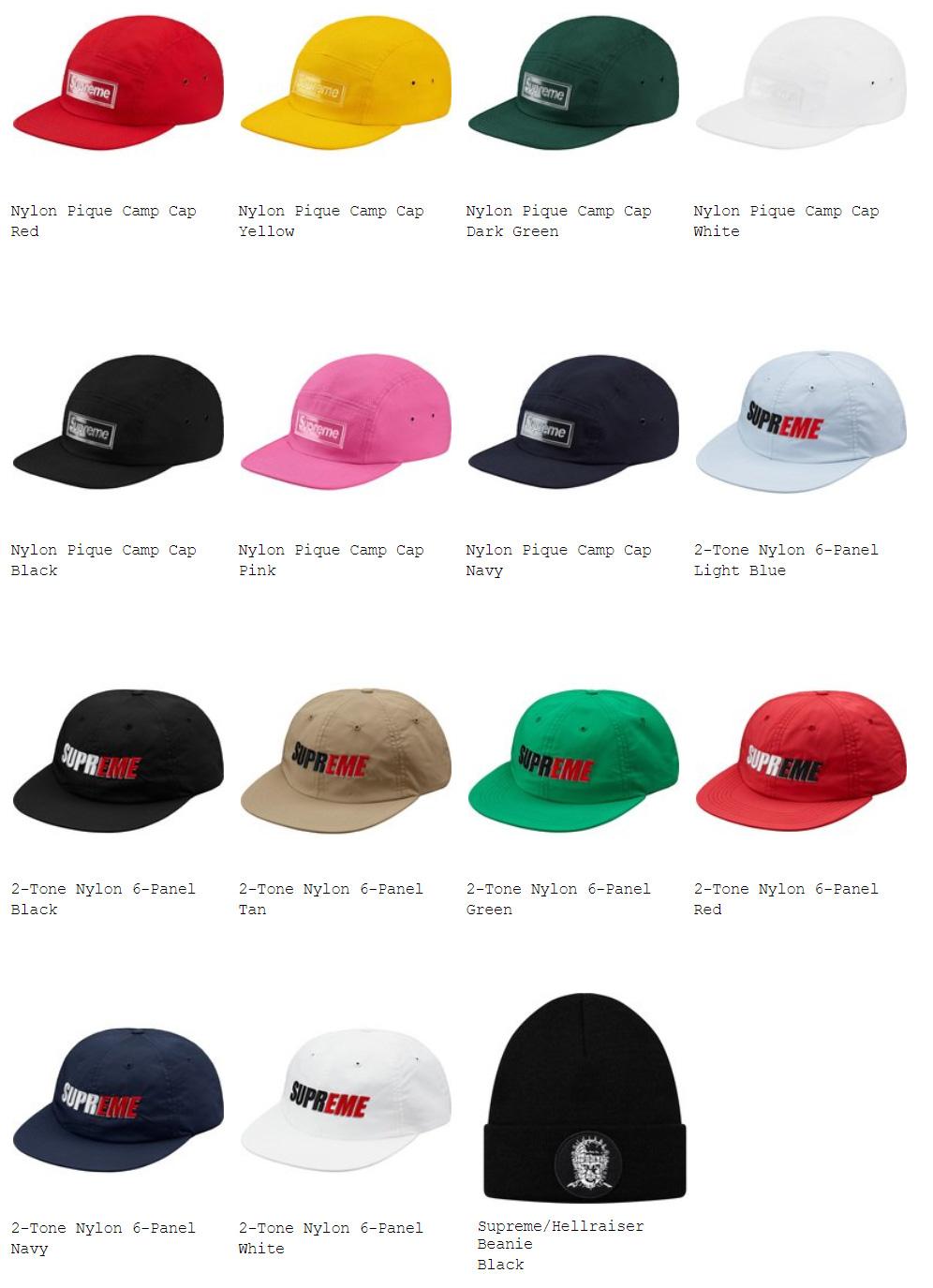 supreme 18ss week10 オンライン配置 ハット・帽子