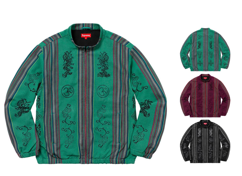 Woven Striped Batik Jacket