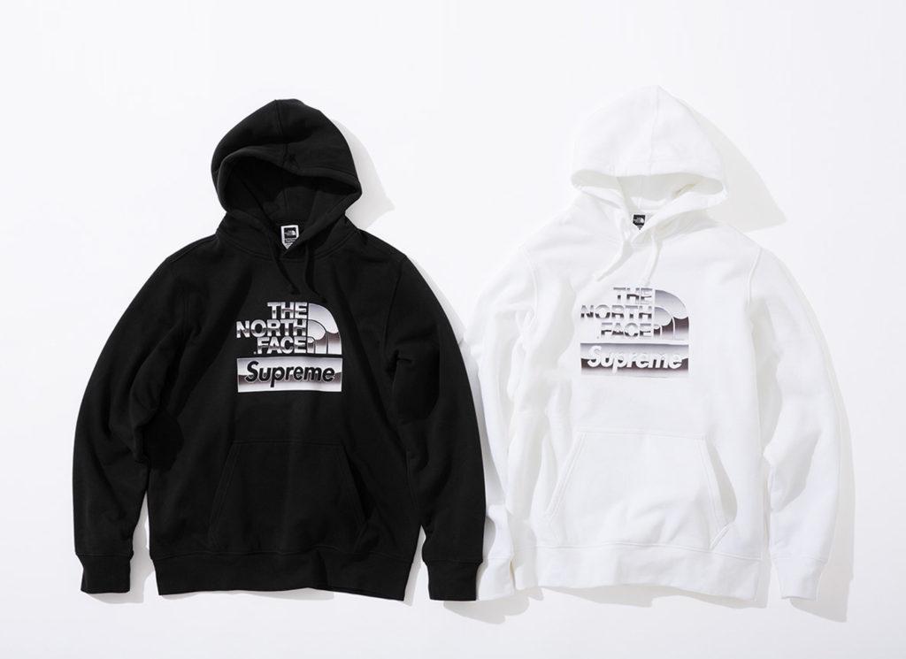 Supreme®/The North Face® Metallic Logo Hooded Sweatshirt