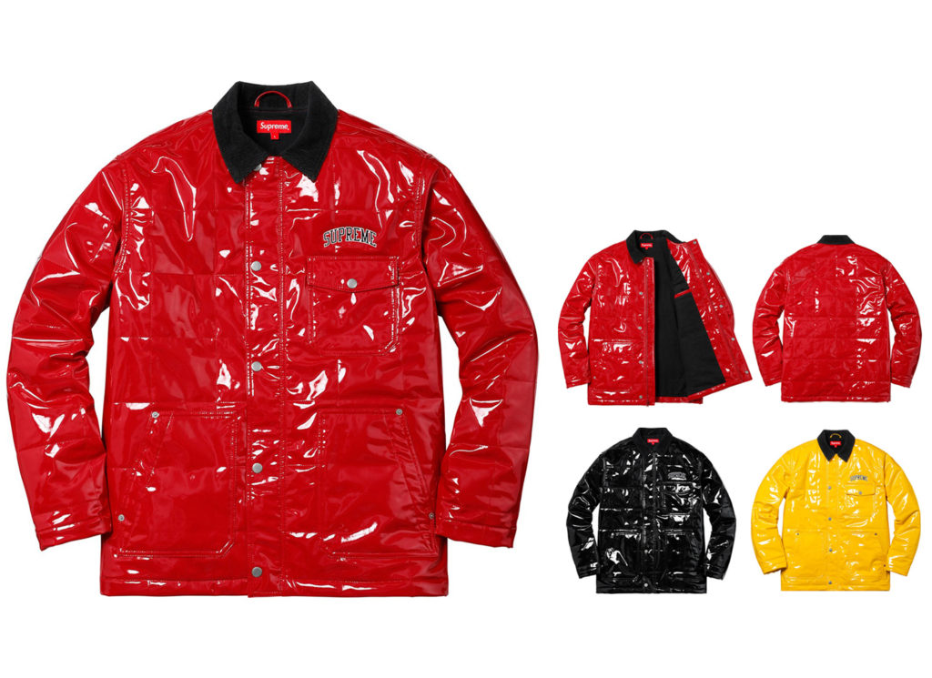 Quilted Patent Vinyl Work Jacket