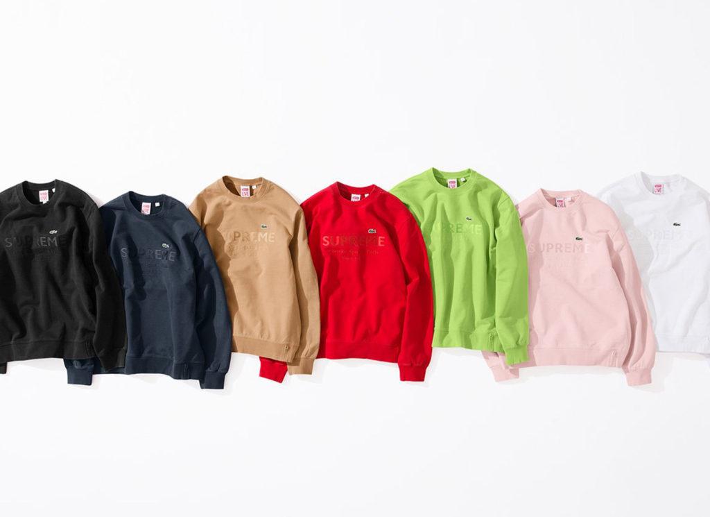 Supreme®/LACOSTE Crewneck Sweatshirt
