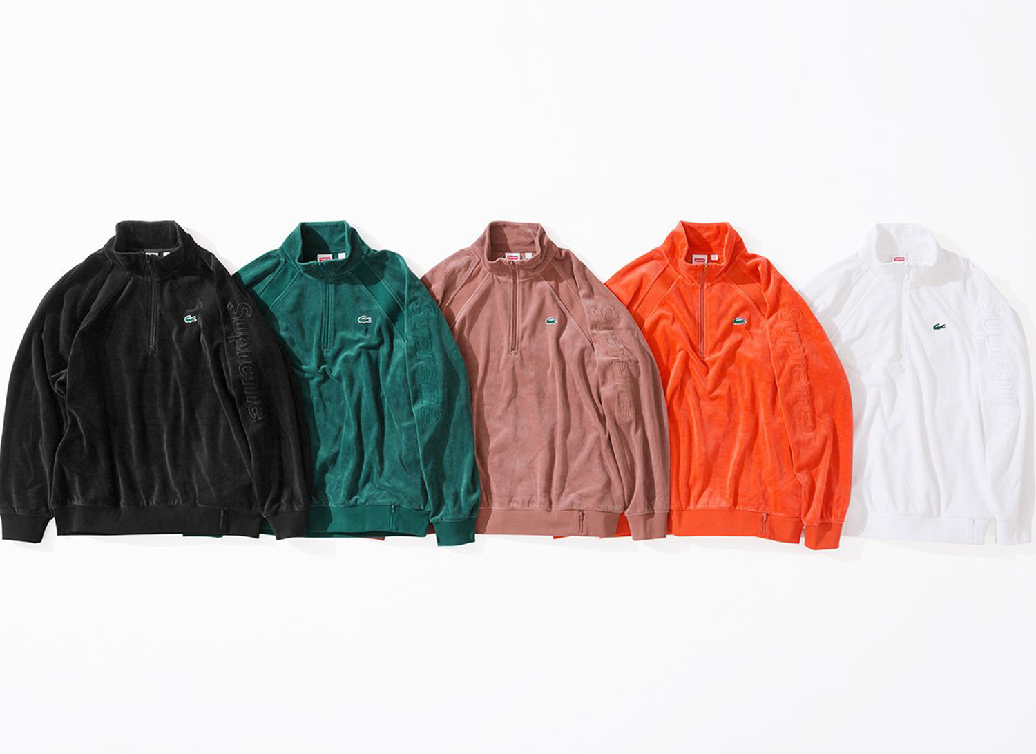 Supreme®/LACOSTE Velour Half Zip Track Top