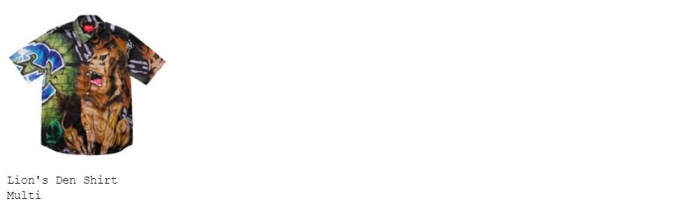 supreme 18ss week11 オンライン配置 シャツ