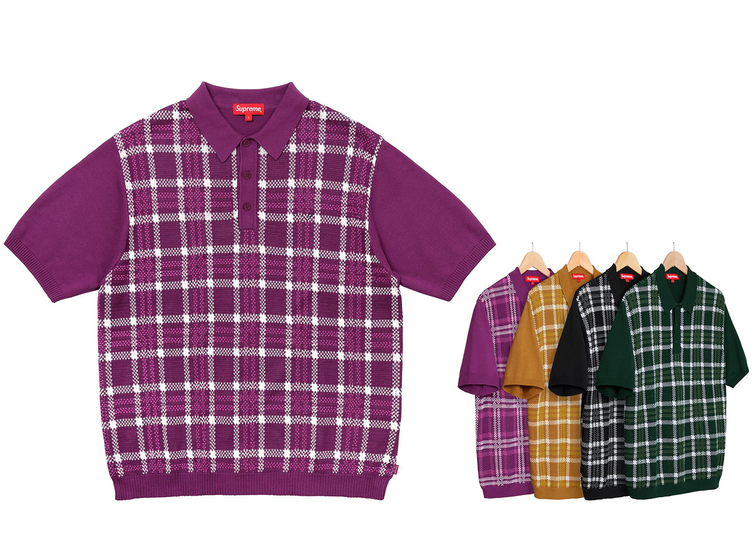 Plaid Knit Polo
