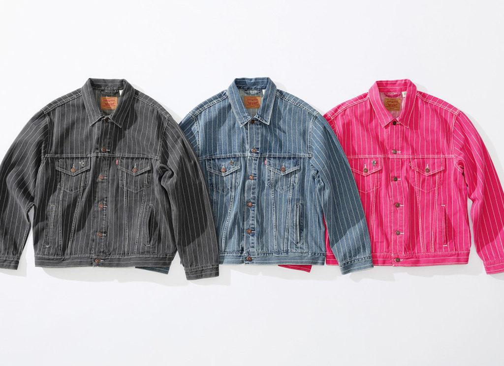 Supreme®/ Levi's® Pinstripe Trucker Jacket