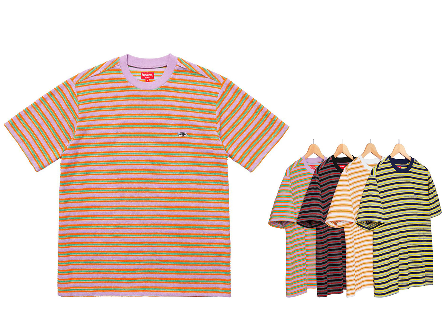 Multi Stripe Terry Tee