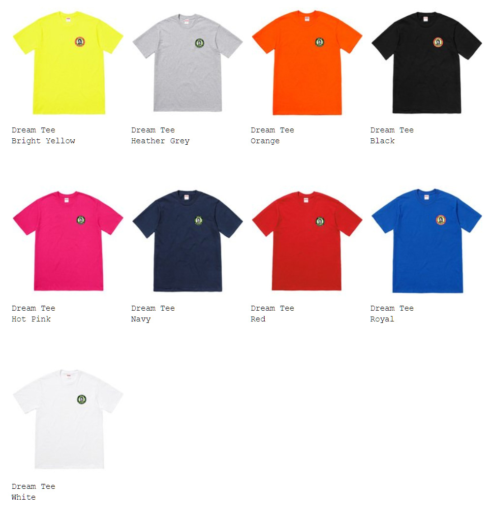 supreme 18ss week15 オンライン配置 Tシャツ