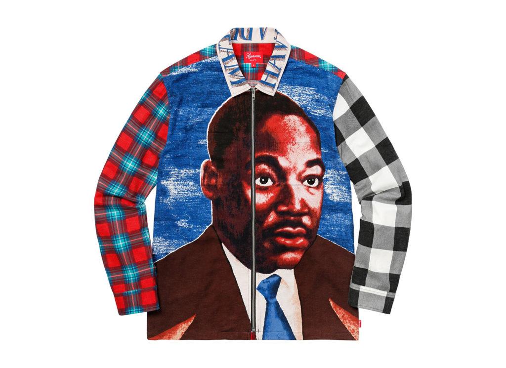 MLK Zip Up Flannel Shirt