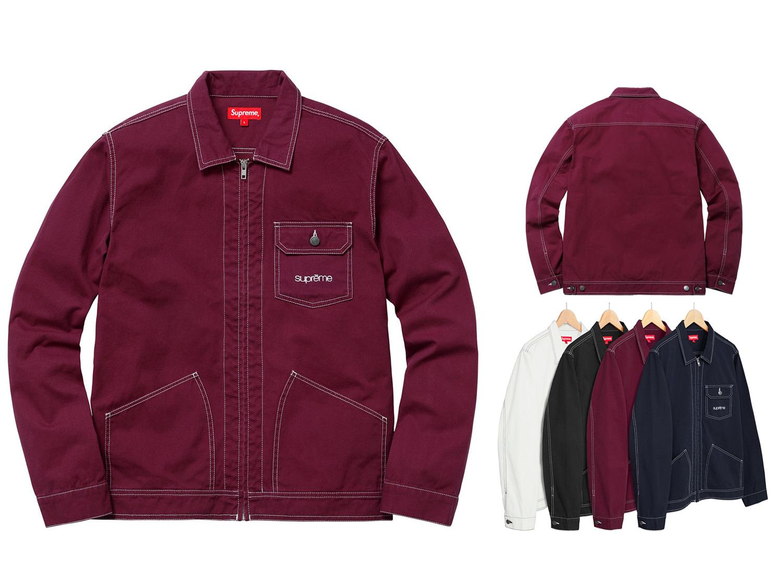 Contrast Stitch Work Jacket