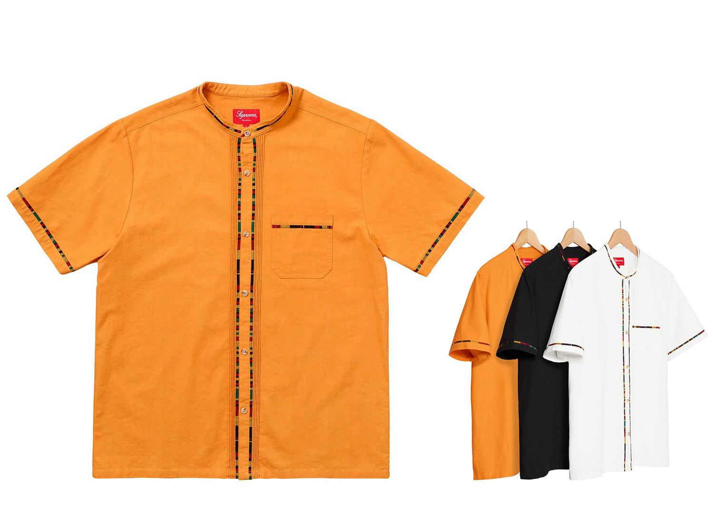 S/S Band Collar Shirt