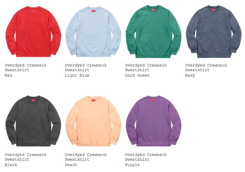 supreme 18ss week16 オンライン配置 スウェットシャツ