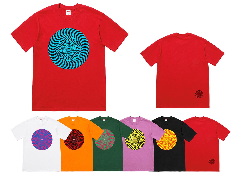 Supreme®/Spitfire® Classic Swirl T-Shirt