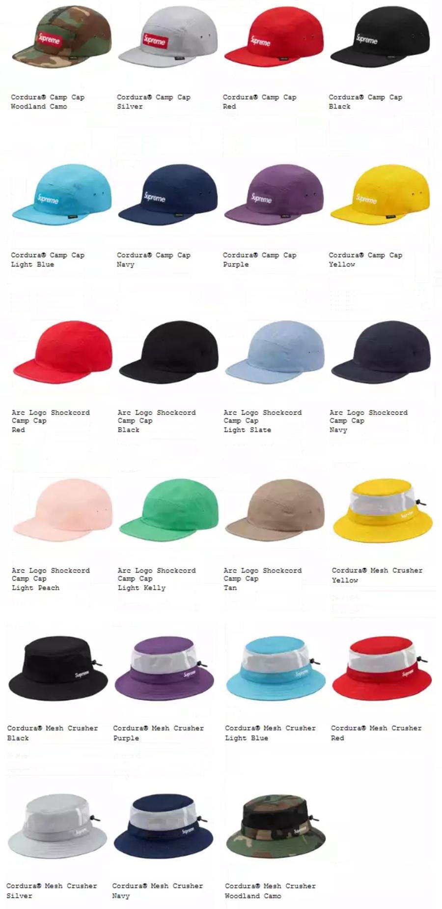 Supreme シュプリーム 18ss week18 オンライン配置 キャップ・帽子