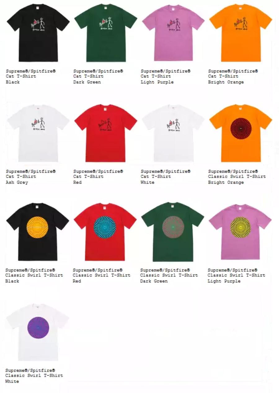 Supreme シュプリーム 18ss week18 オンライン配置 Tシャツ