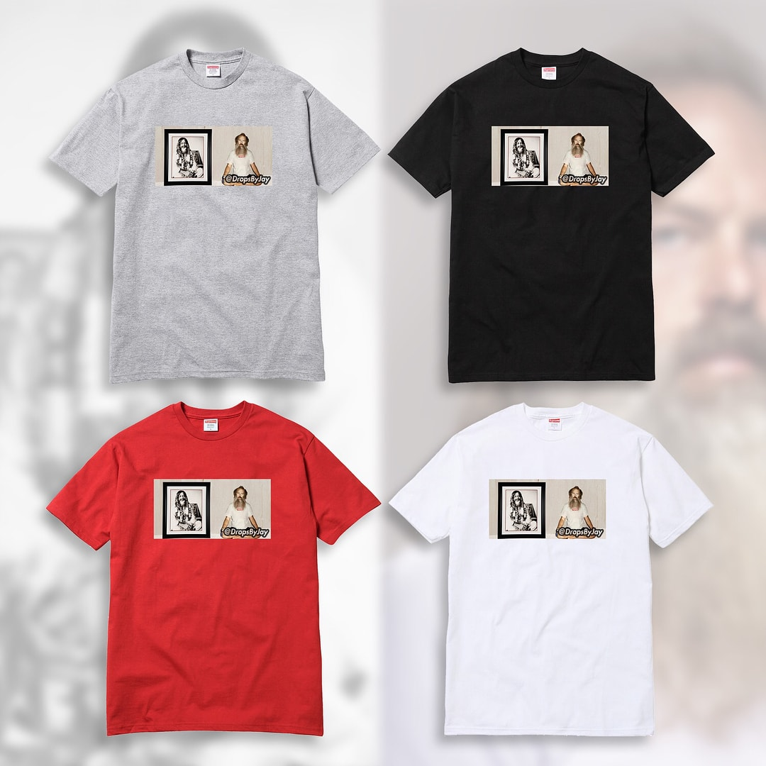 supreme シュプリーム 2018fw リーク Rick Rubin photo tee & sticker