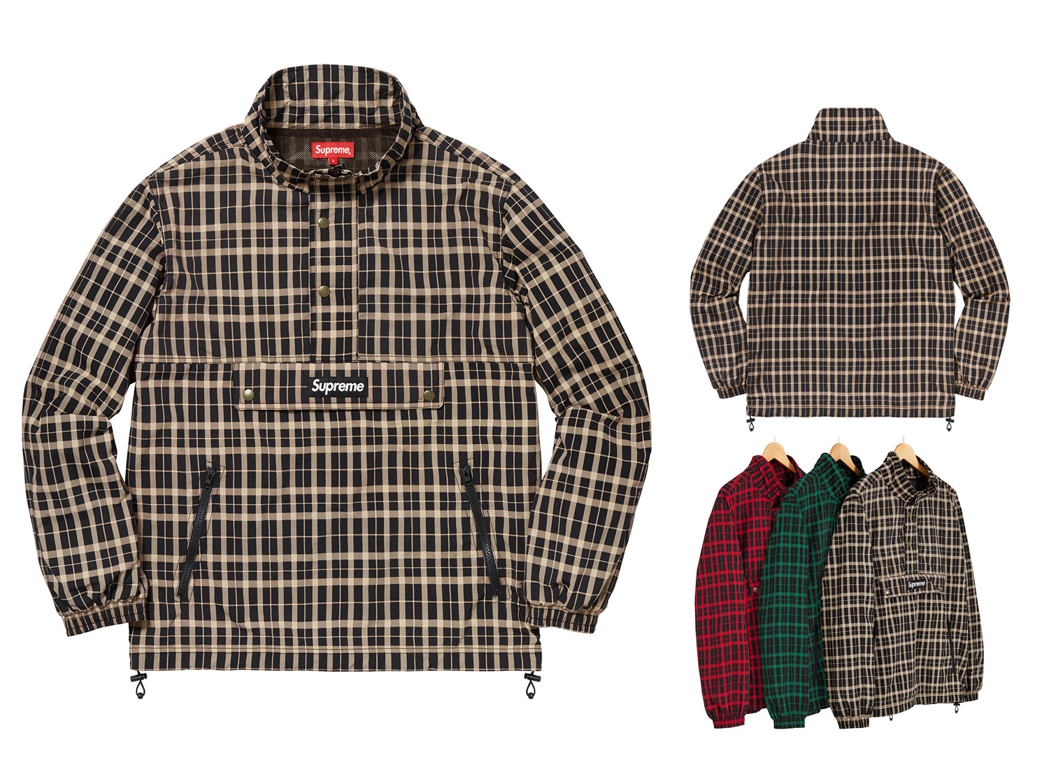 Nylon Plaid Pullover