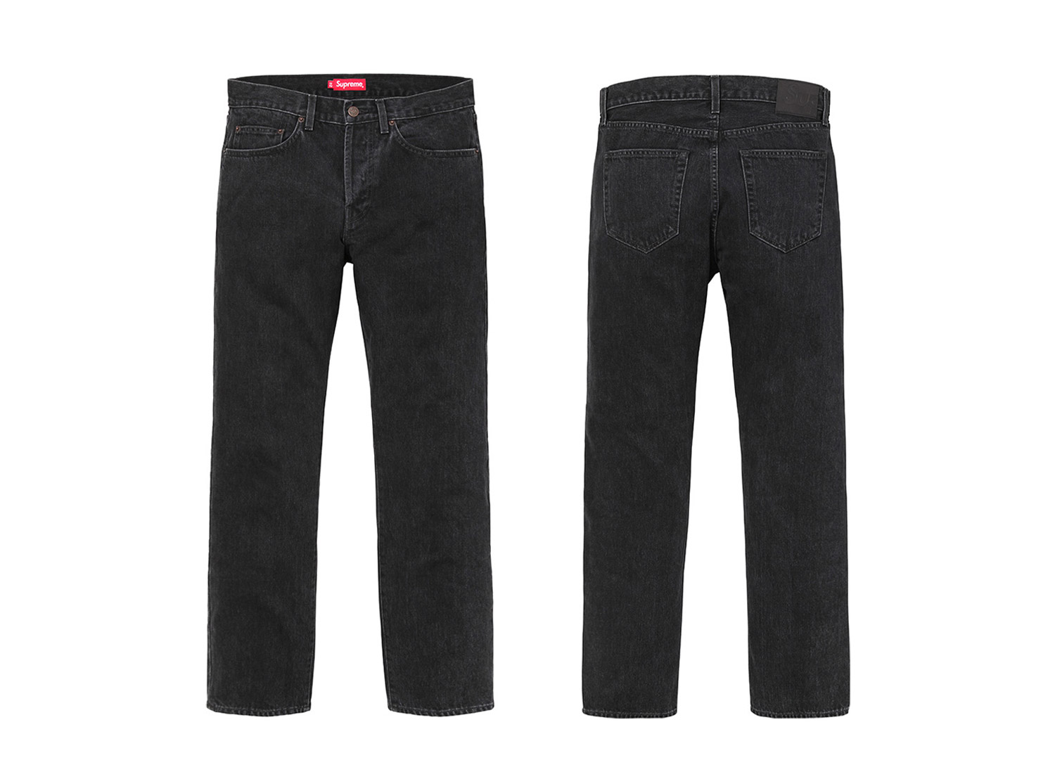 Stone Washed Black Slim Jean
