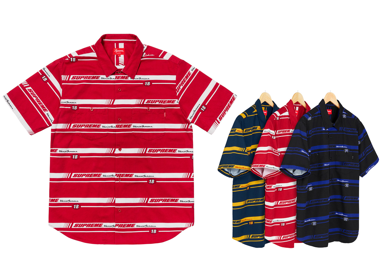 Striped Racing Work Shirt