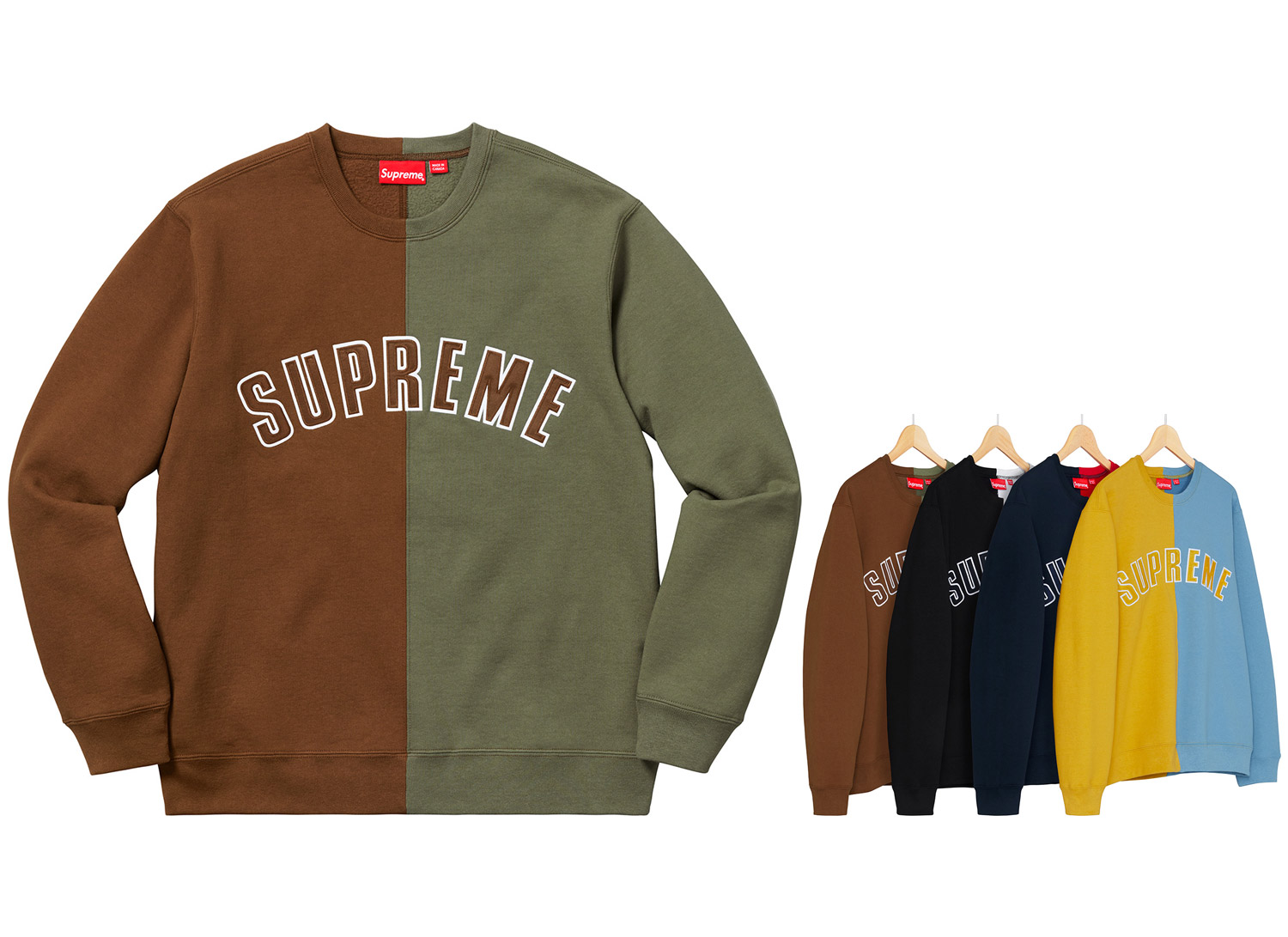 Split Crewneck Sweatshirt