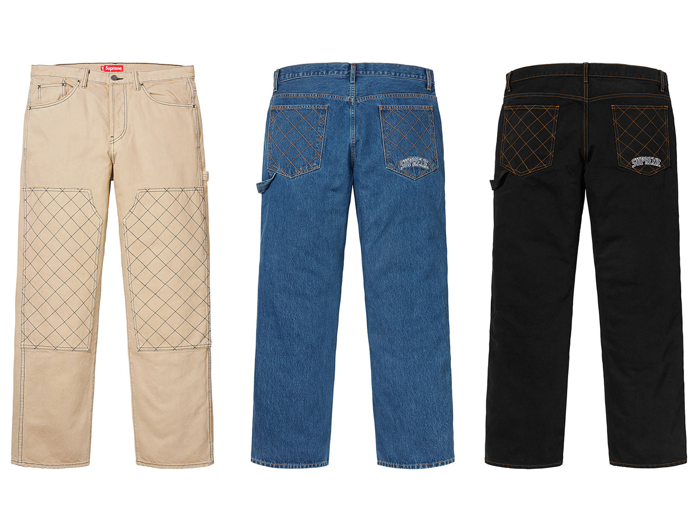 Diamond Stitch Carpenter Jean