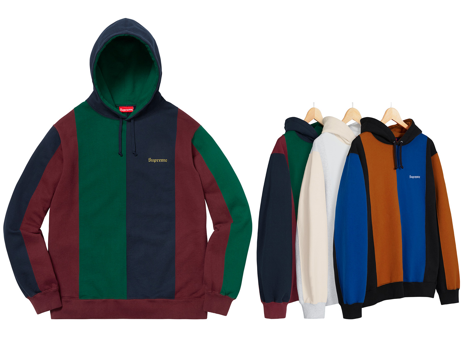 Tricolor Hooded Sweatshirt