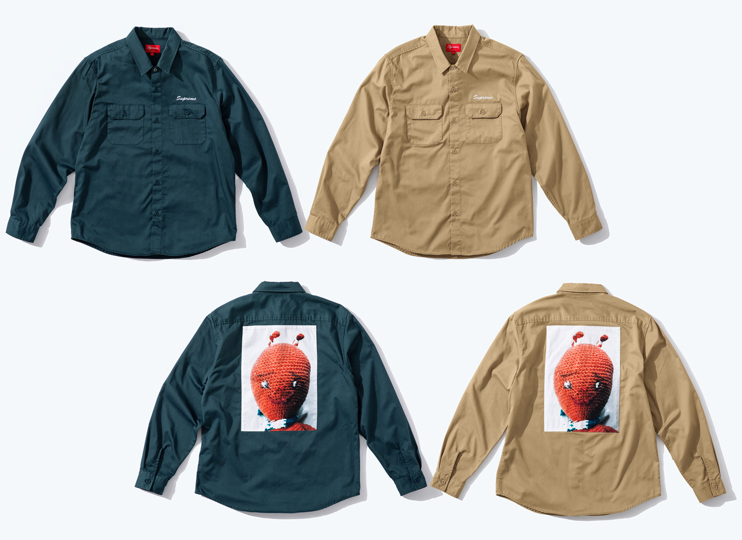 Mike Kelley/Supreme Ahh Youth Work Shirt