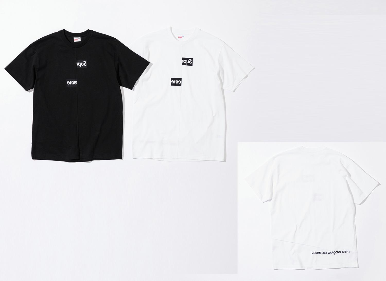 Supreme シュプリーム 18fw week4 Supreme®/Comme des Garçons SHIRT® Split Box Logo Tee