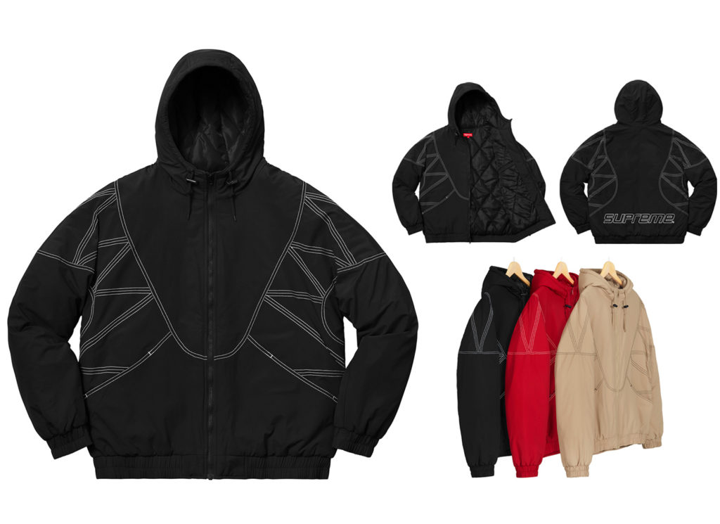 Zig Zag Stitch Puffy Jacket