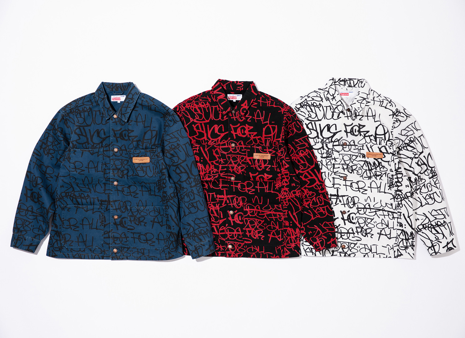 Supreme®/Comme des Garçons SHIRT® Cotton Painted Canvas Chore Coat